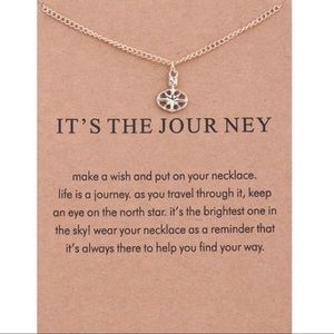"""It's the Journey"" Gold Necklace w/ Card"
